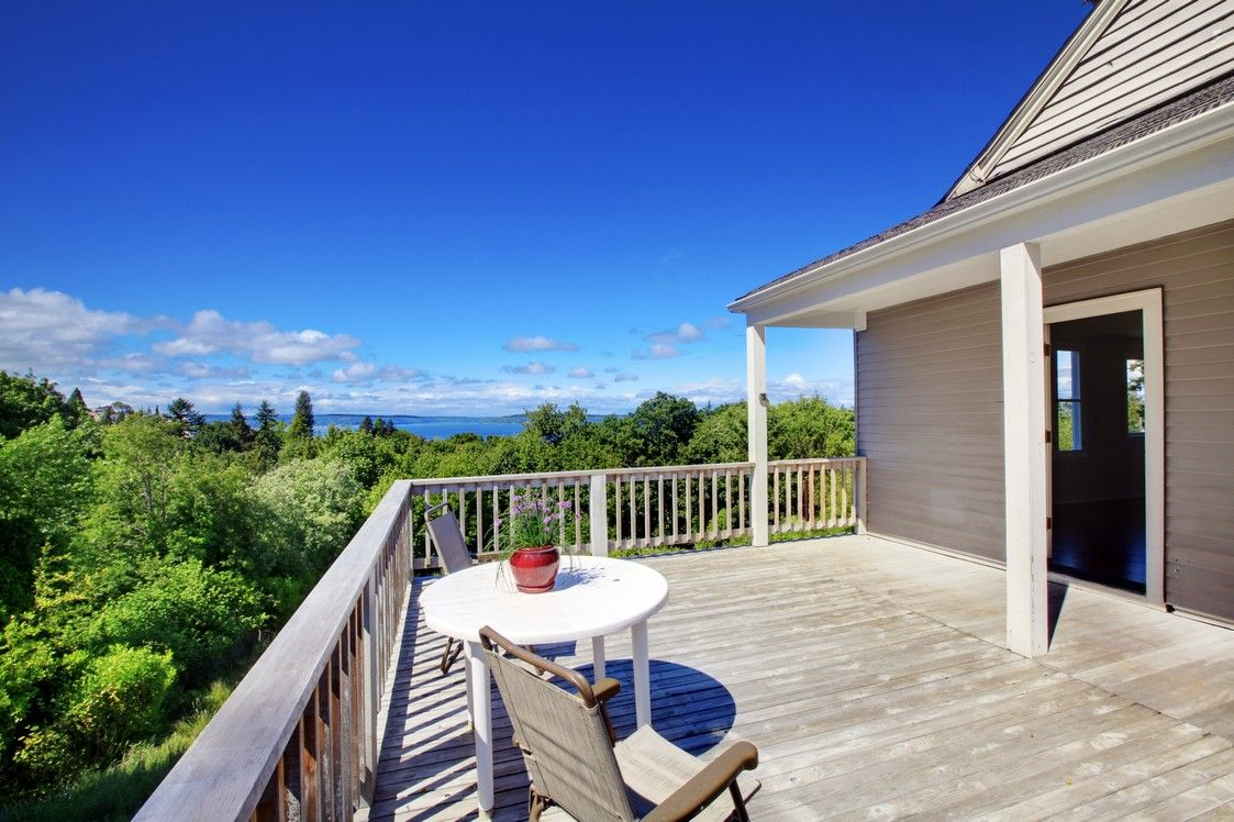 Breathtaking views from this classic deck