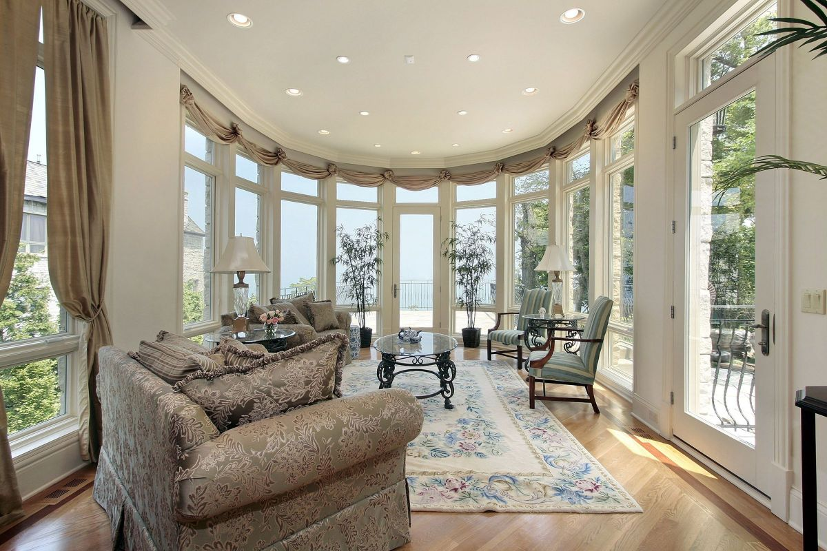 Beautiful Open Glass Sunroom