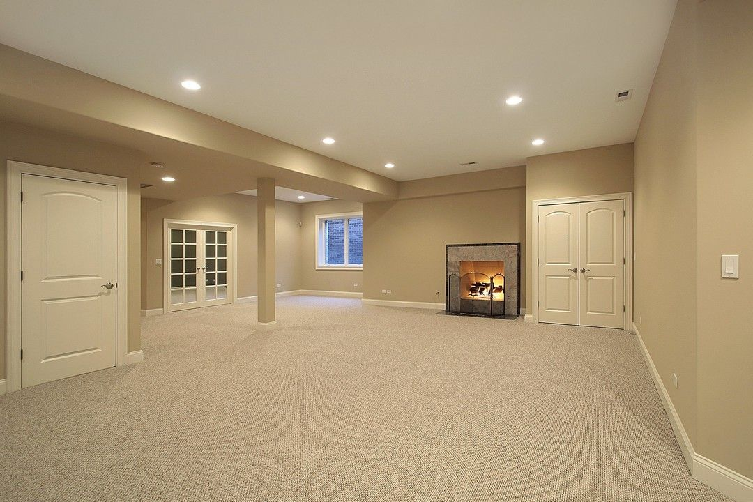 Clean open space with fresh carpet perfect for secondary living room