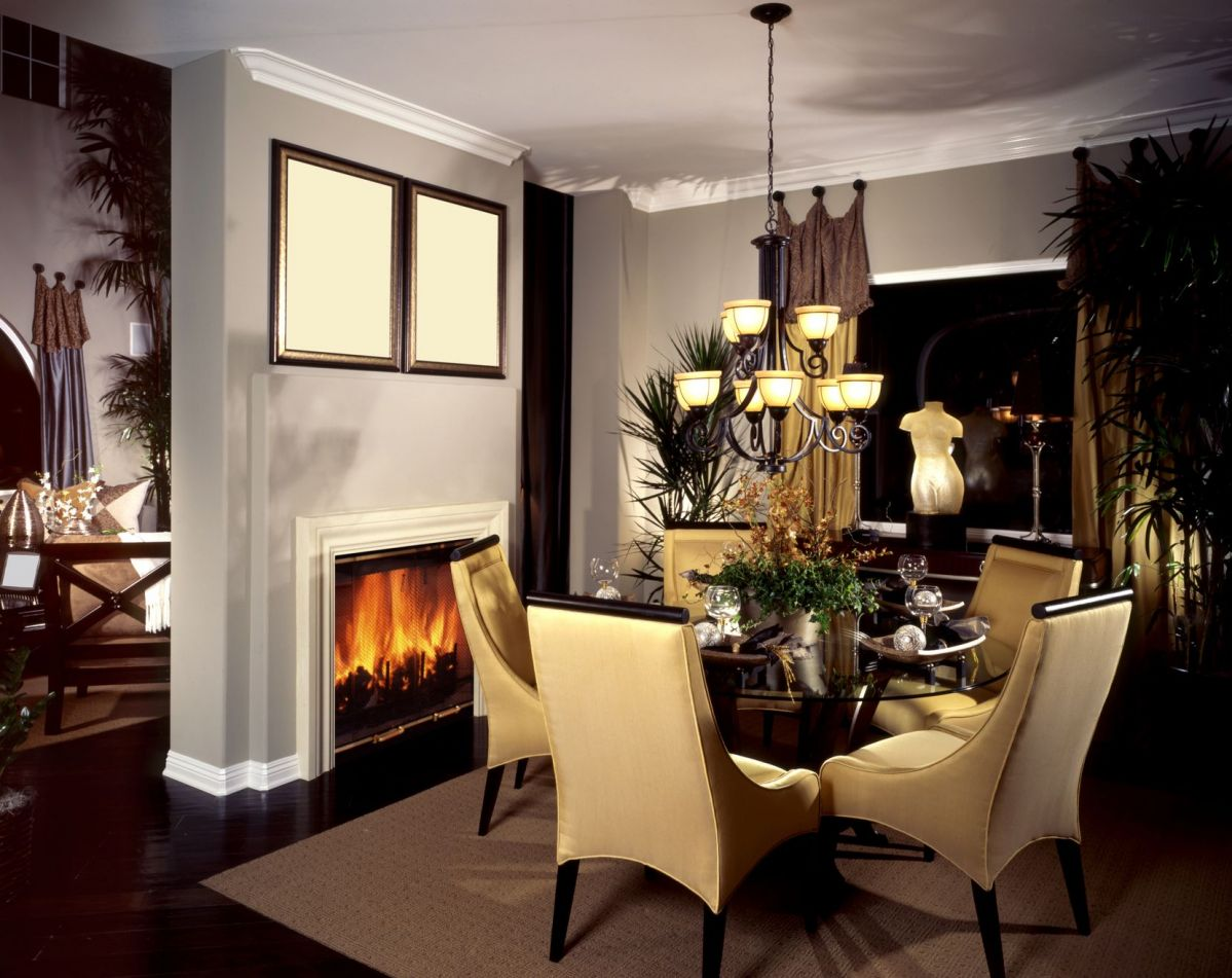 Great Tree Decour And Classic Furniture Fireplace