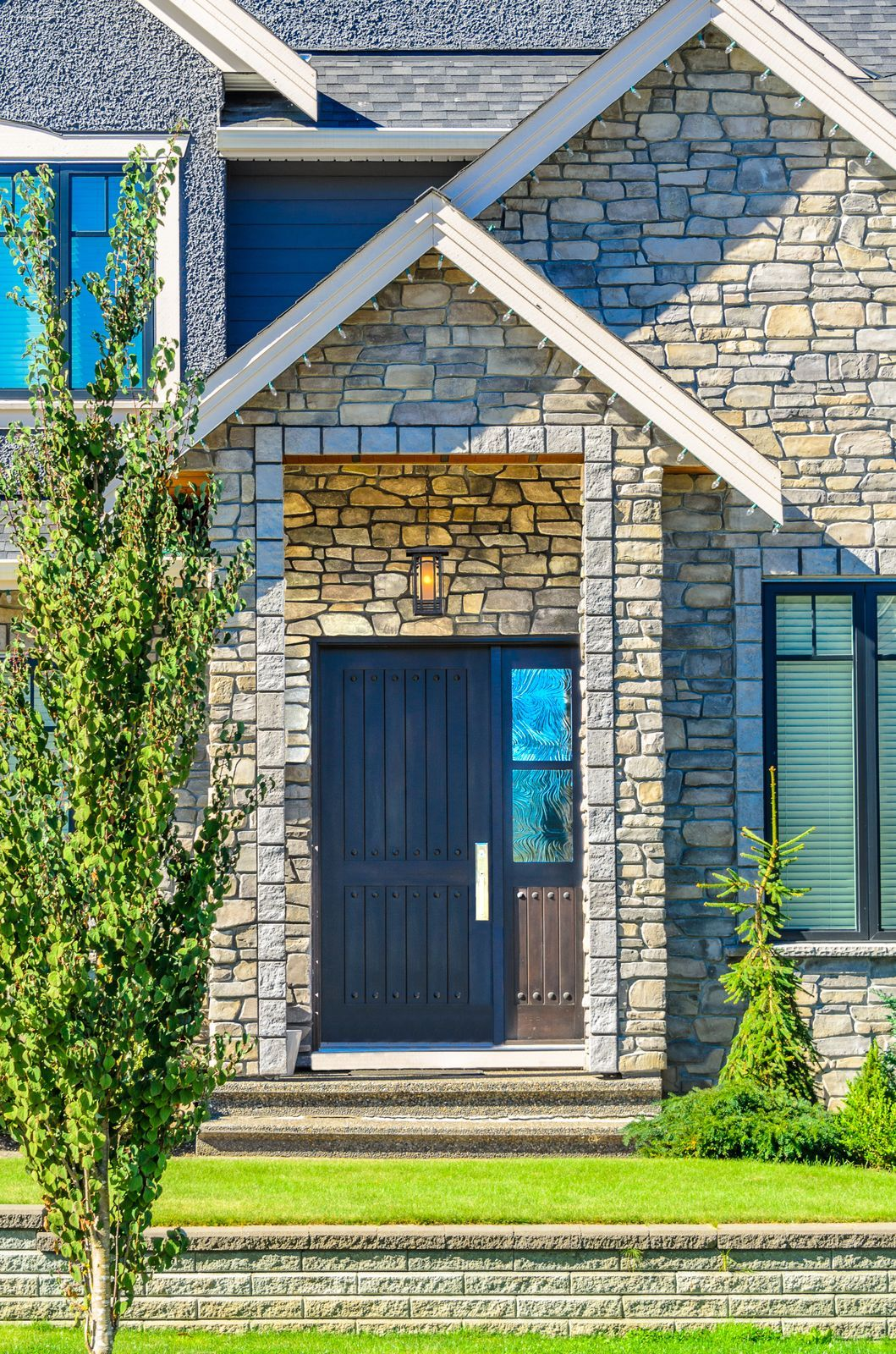 Natural Stone Slate Rustic Exterior Home