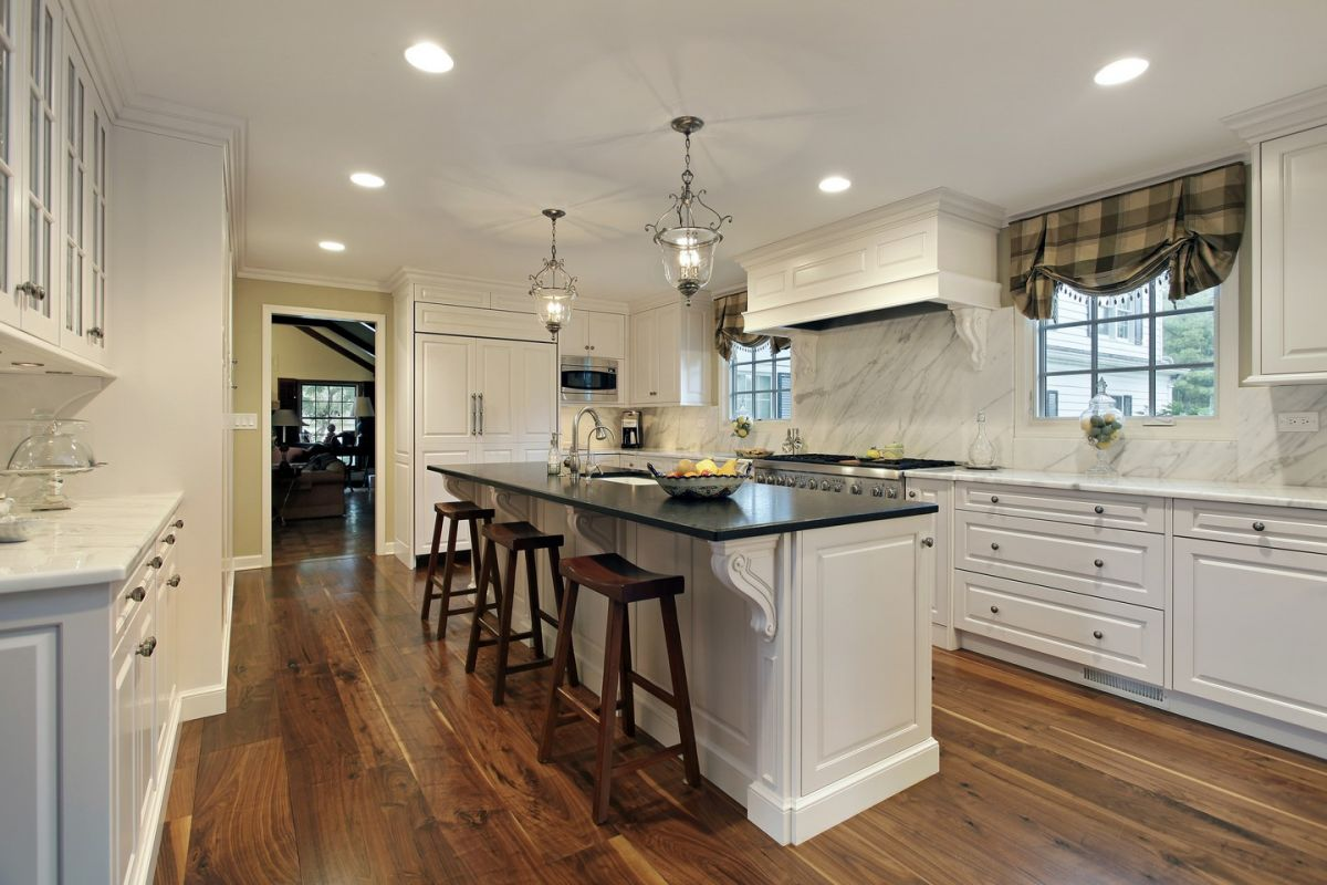 Open Kitchen With Island Breakfast Bar Homeyou