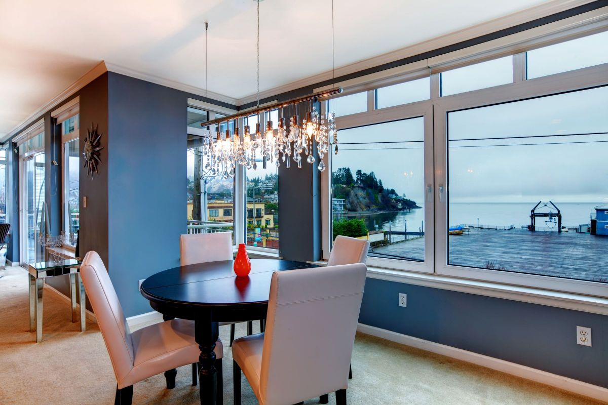 Oceanside View for these Exquisite Dining Room Windows
