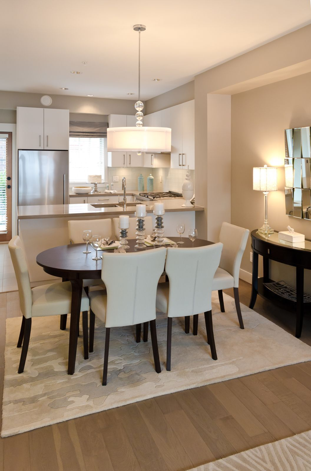 Elegant dining room with neutral colors homeyou for Elegant neutral bedrooms