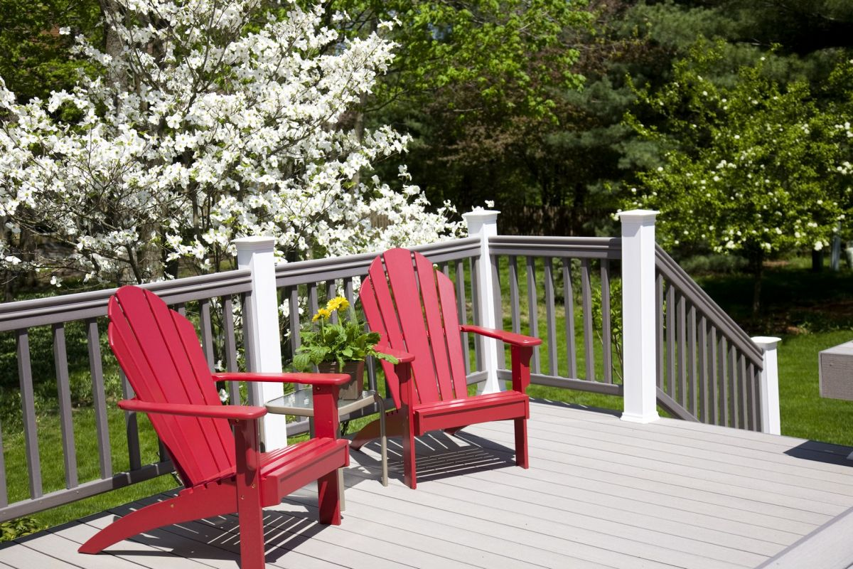 Deck with picturesque yard view