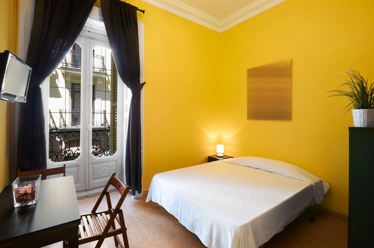Bright Yellow Interior Paint for a Bedroom