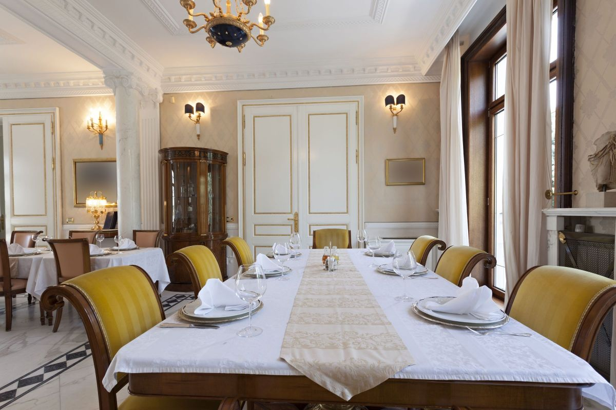 Ornate White And Yellow Dining Room Set Homeyou