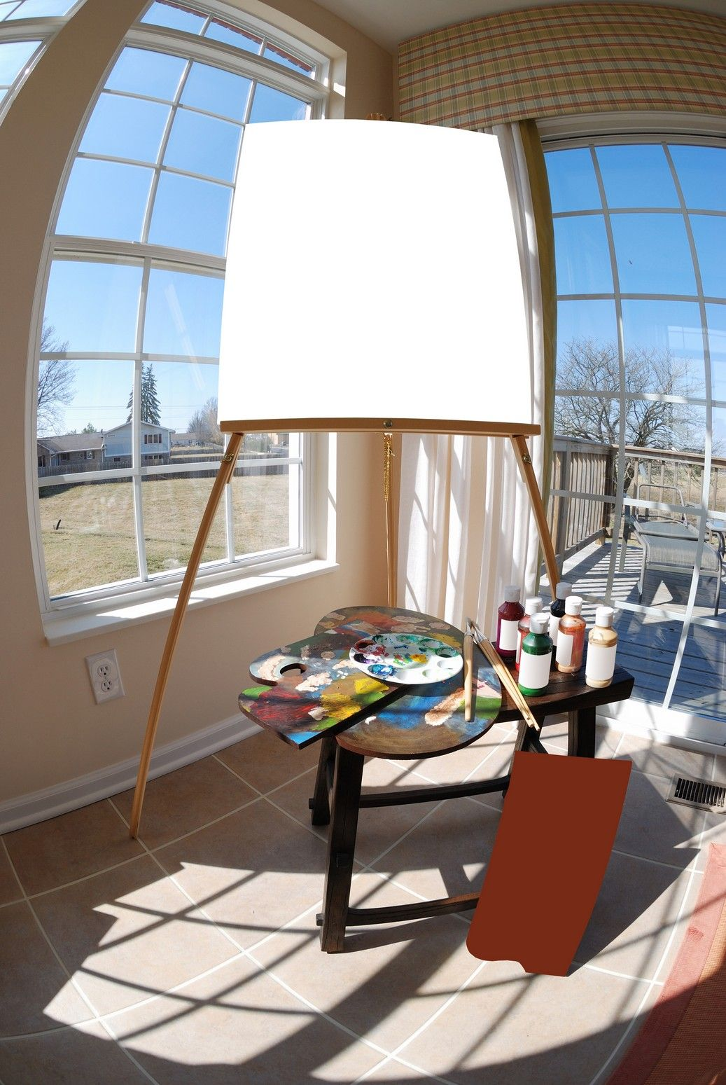 Inspirational sunroom for art projects