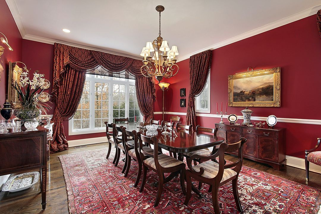 Dramatic Wine Colored Walls And Curtains Homeyou