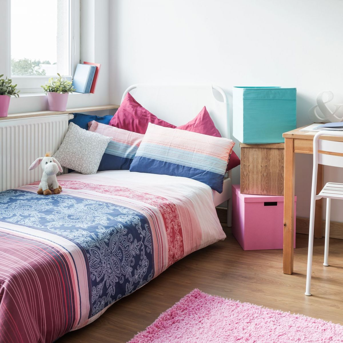 Lots of Pretty Colors and Striped Bedroom Decor