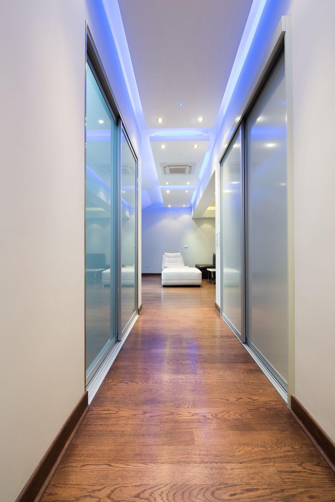 contemporary hallway lighting. Creative Hidden LED Lighting To Liven The Hallway Contemporary