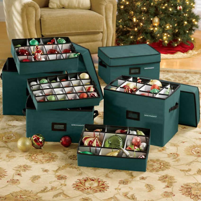 Keep organized with ornament organizers