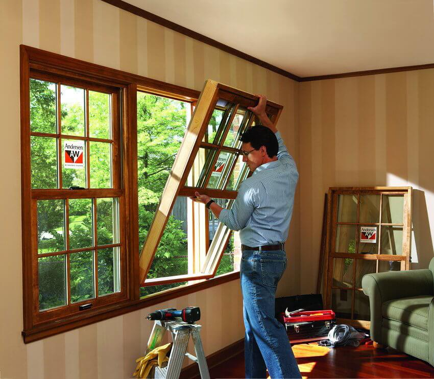 Open glass windows in your home interior and how they help save money