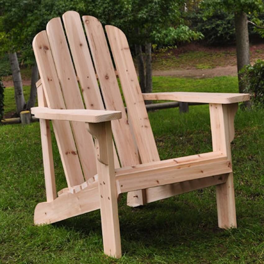 Wooden furniture for outdoor homes