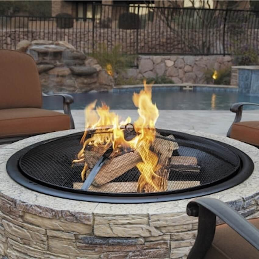 Outdoor fireplace for the summer