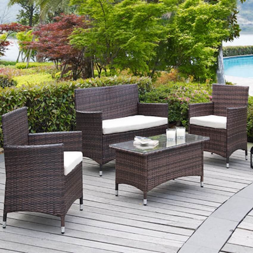 Exterior patio furniture