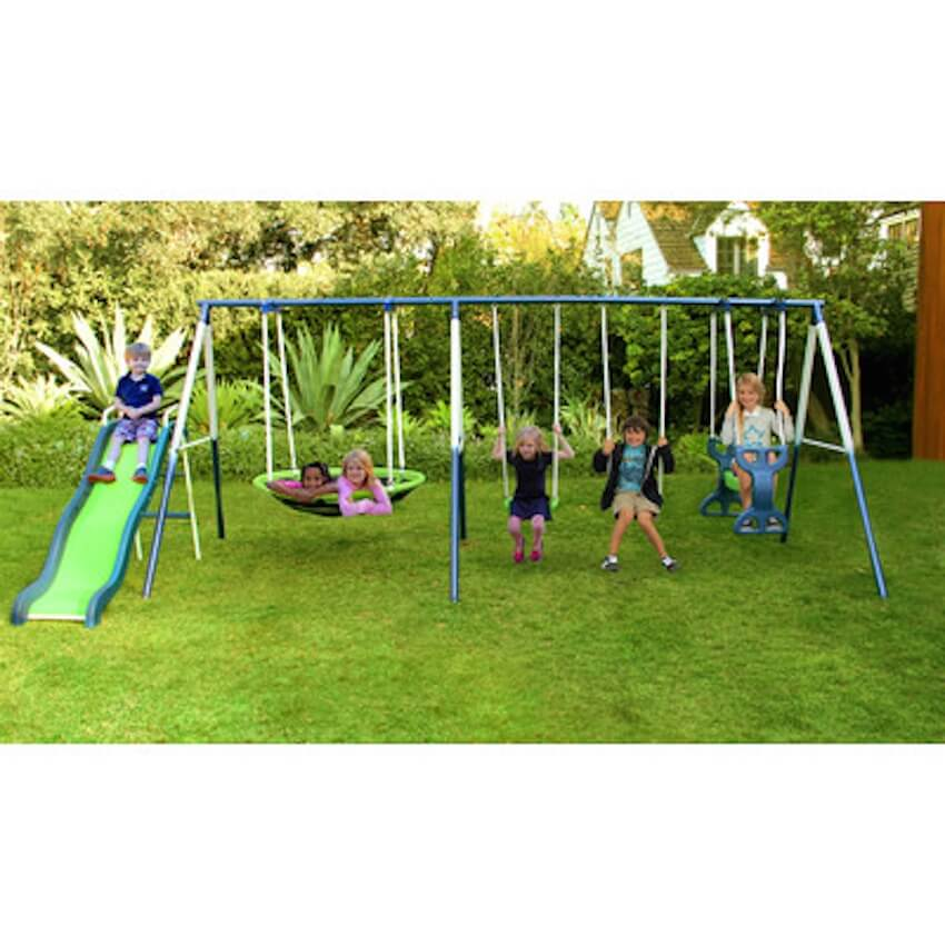 Swing set to be enjoyed by outdoor children everywhere
