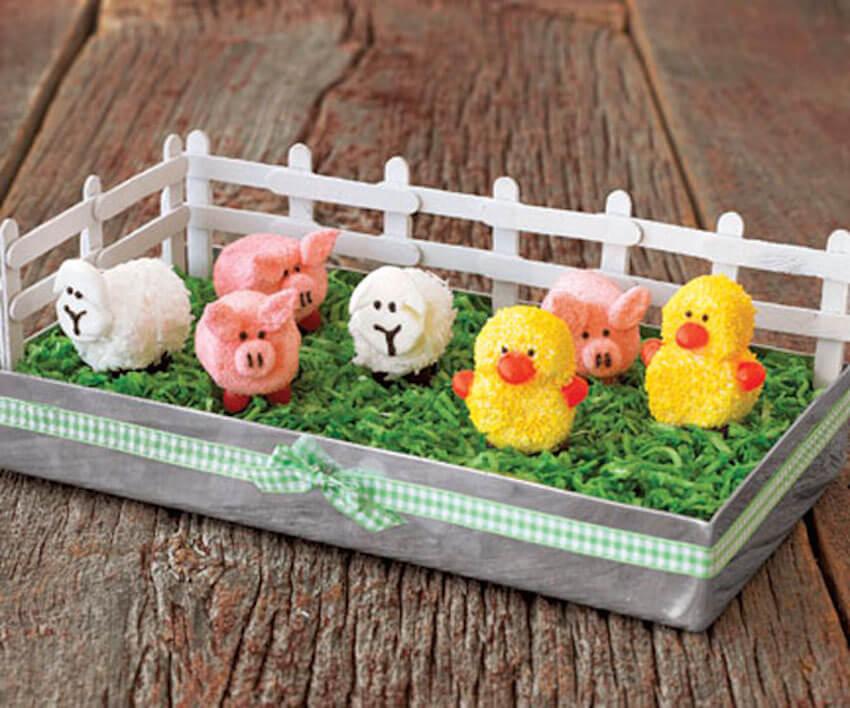 Dining room desert treats that look like a little bunny farm