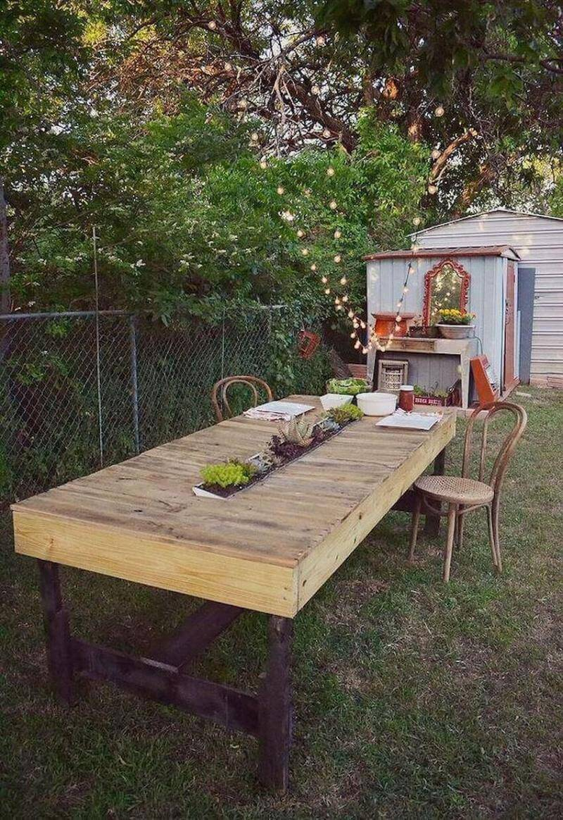 Build a rustic dining table from reclaimed wood