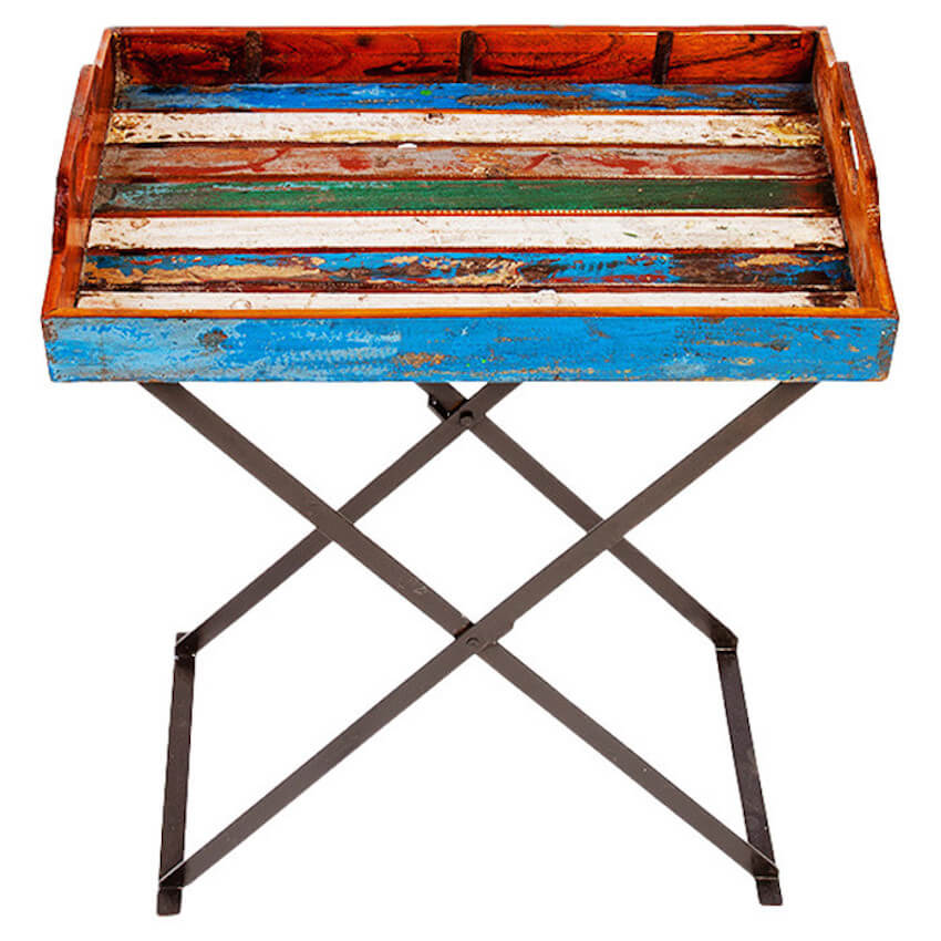 Colorful painting on repurposed wood projects