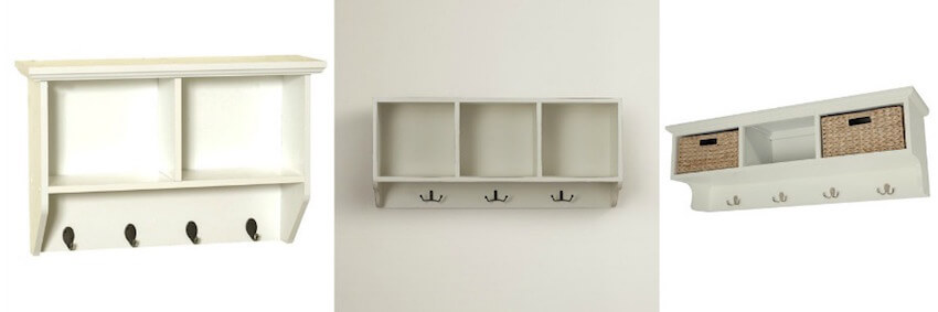Hide away shelving units make any problem organized, at least