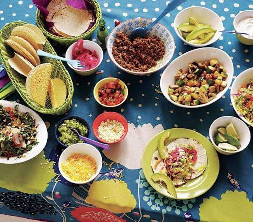 Every home has room for a customized taco bar