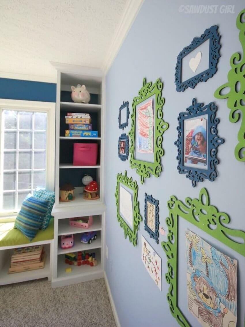 Hanging your kid's artwork is a great way to show how proud you are of him or her. It also makes for fun decorations around your kid's room.