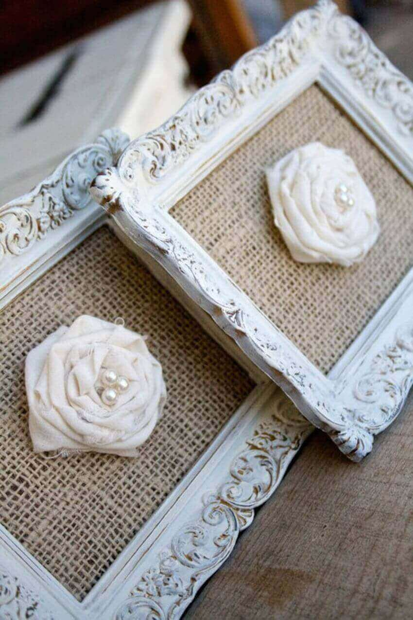 Make DIY flowers and frame them before hanging them on your walls for a truly personal and unique piece of art
