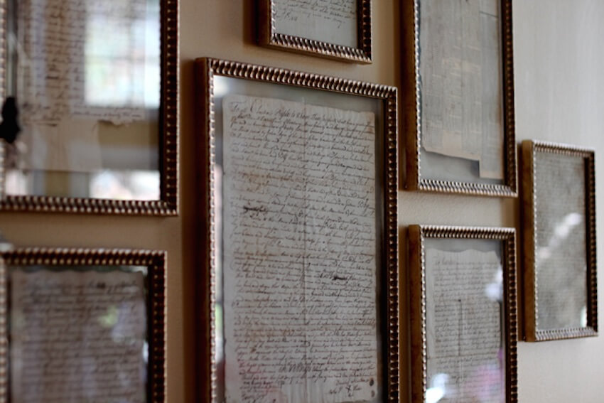 If you have some handwritten letters you've received, frame them!