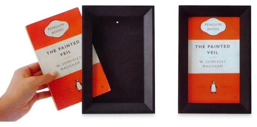 Framing books is a great way to add to your wall decor.