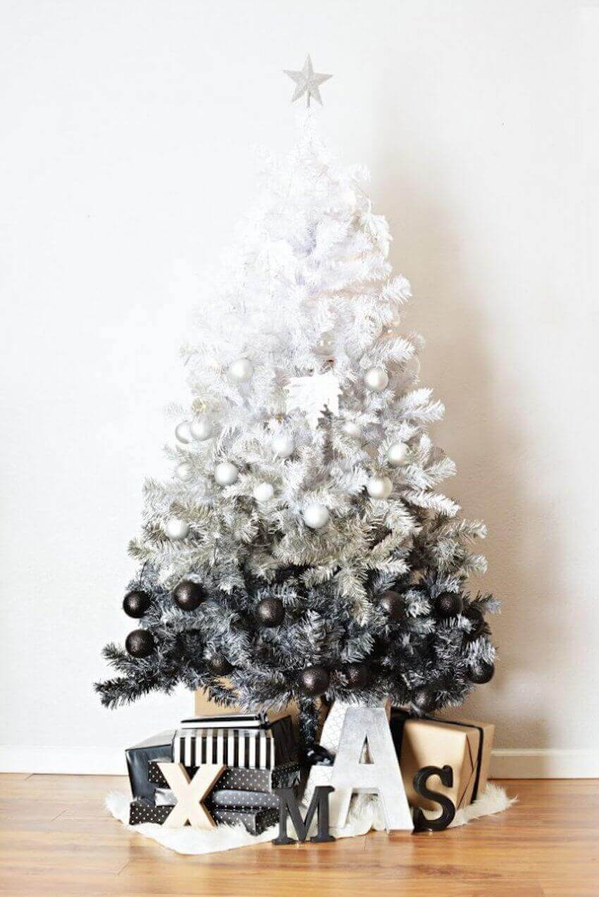 Creative Christmas tree in ombre fashion
