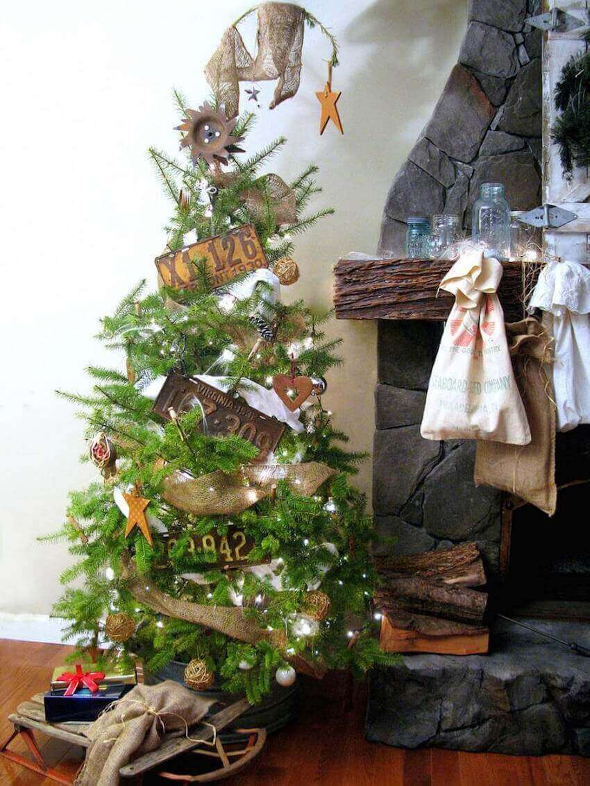 Creative Christmas tree, rustic