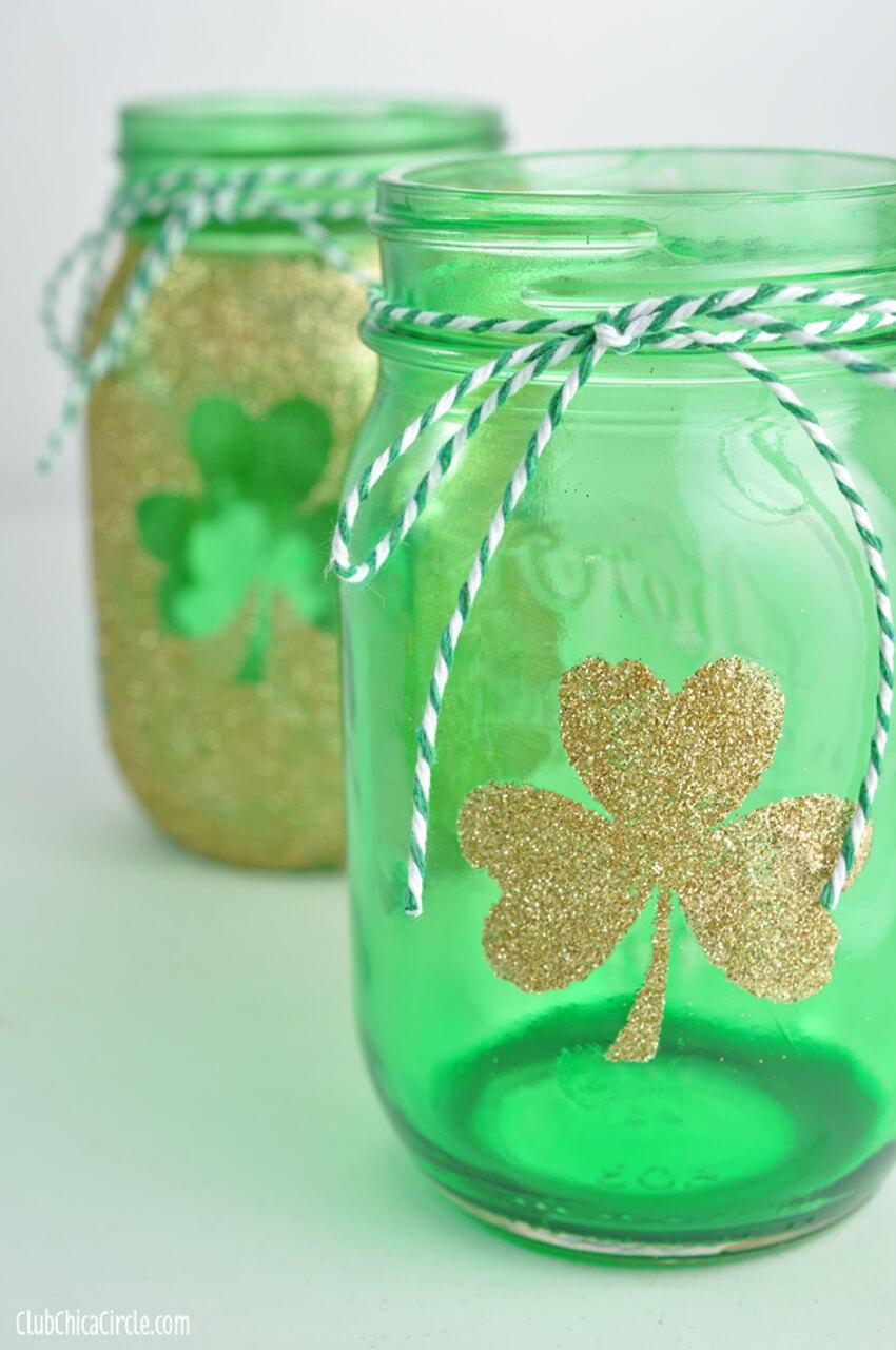 Put those Mason Jars to use by making a festive decoration.