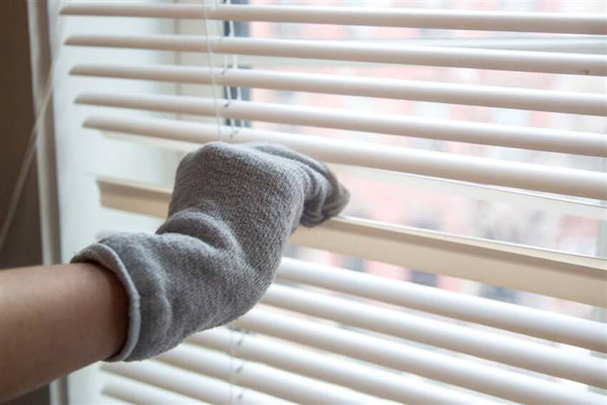 Cleaning your windows is also a good way to get rid of old socks.