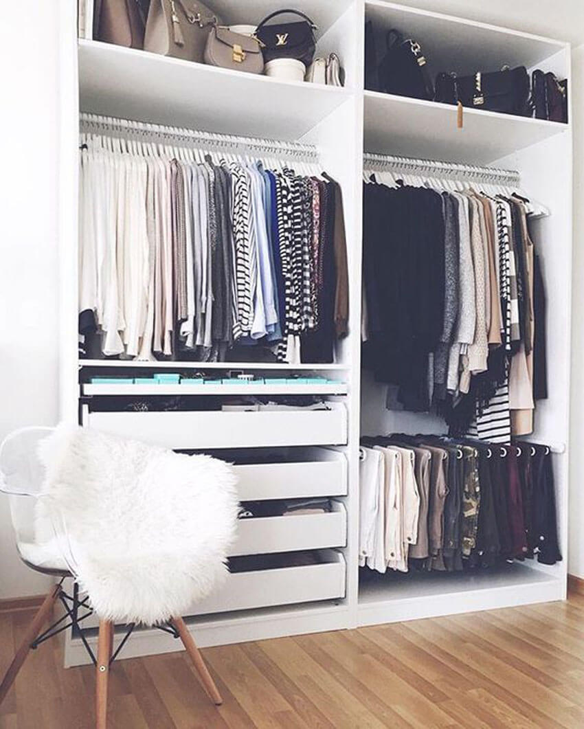 Freshen up your closet by getting rid of those old clothings.