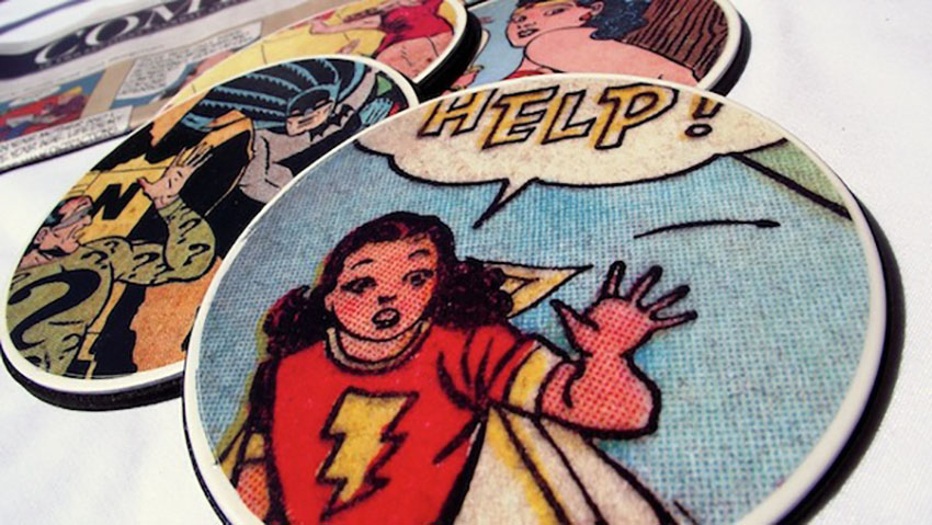 Comic Book DIY Coasters - Gifts That Men Want