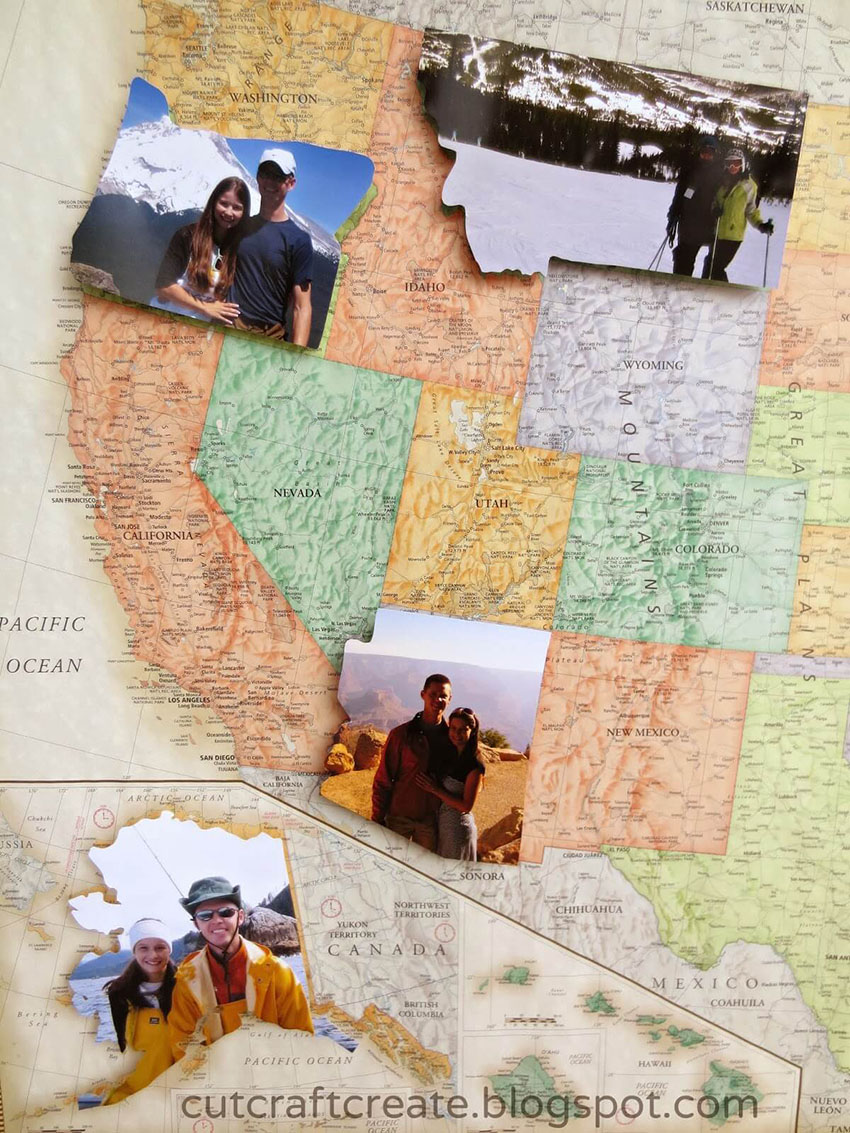 Photo Map - DIY Gifts Men Want