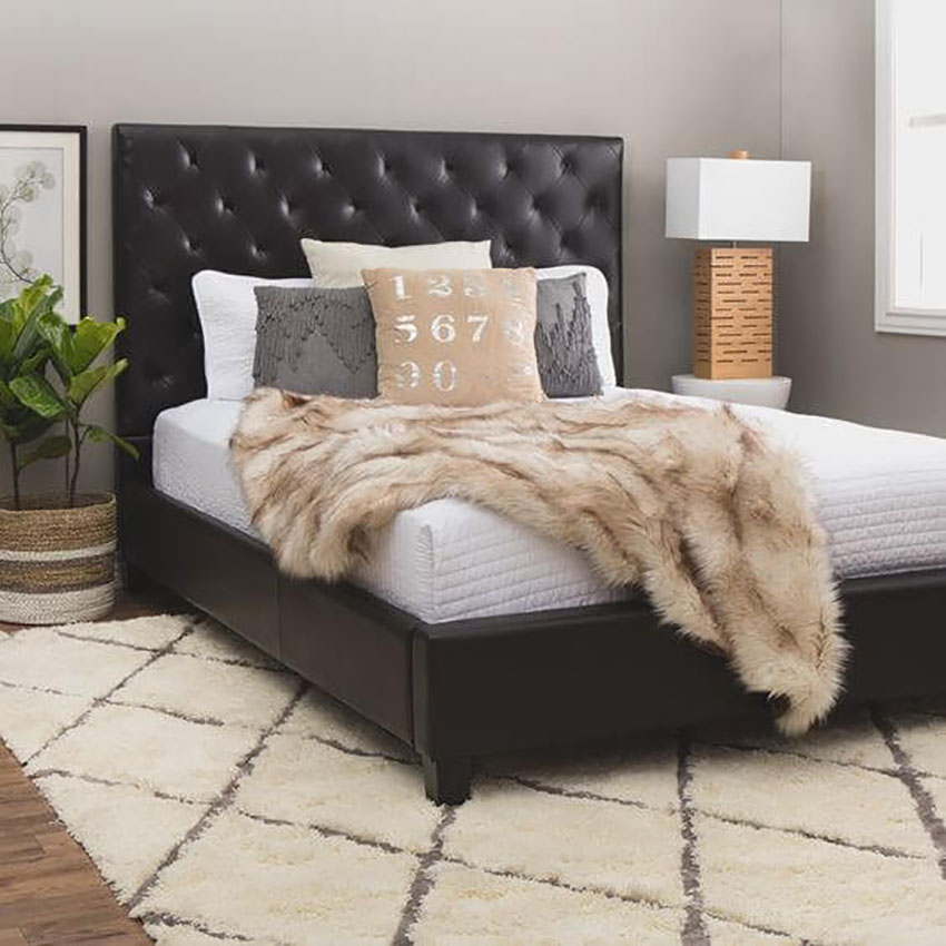 Faux Leather Bedroom Frame