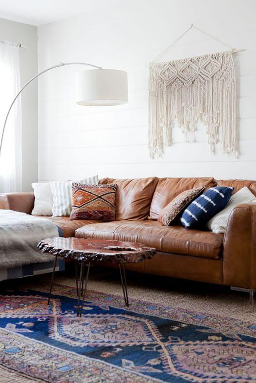 Faux-leather Couch