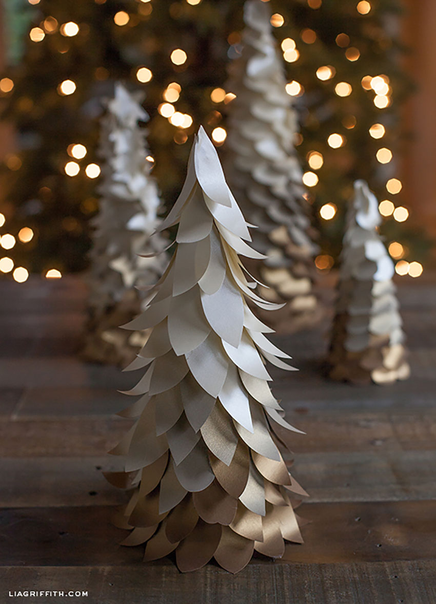 DIY Golden Ombré Christmas Tree