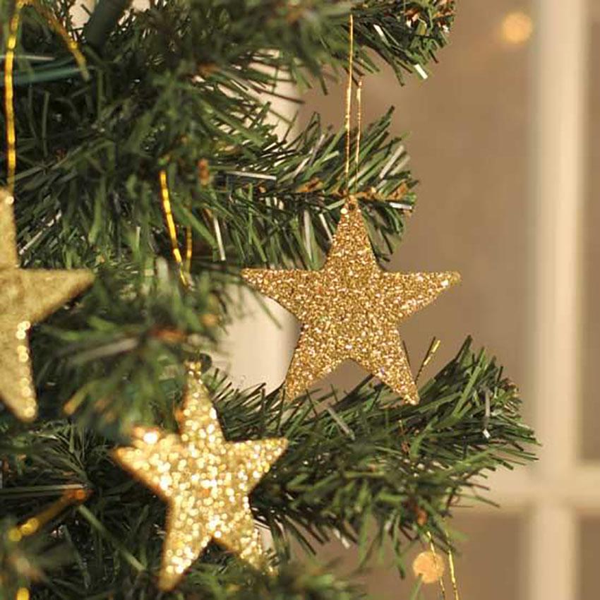 Golden Ornaments Christmas Decor