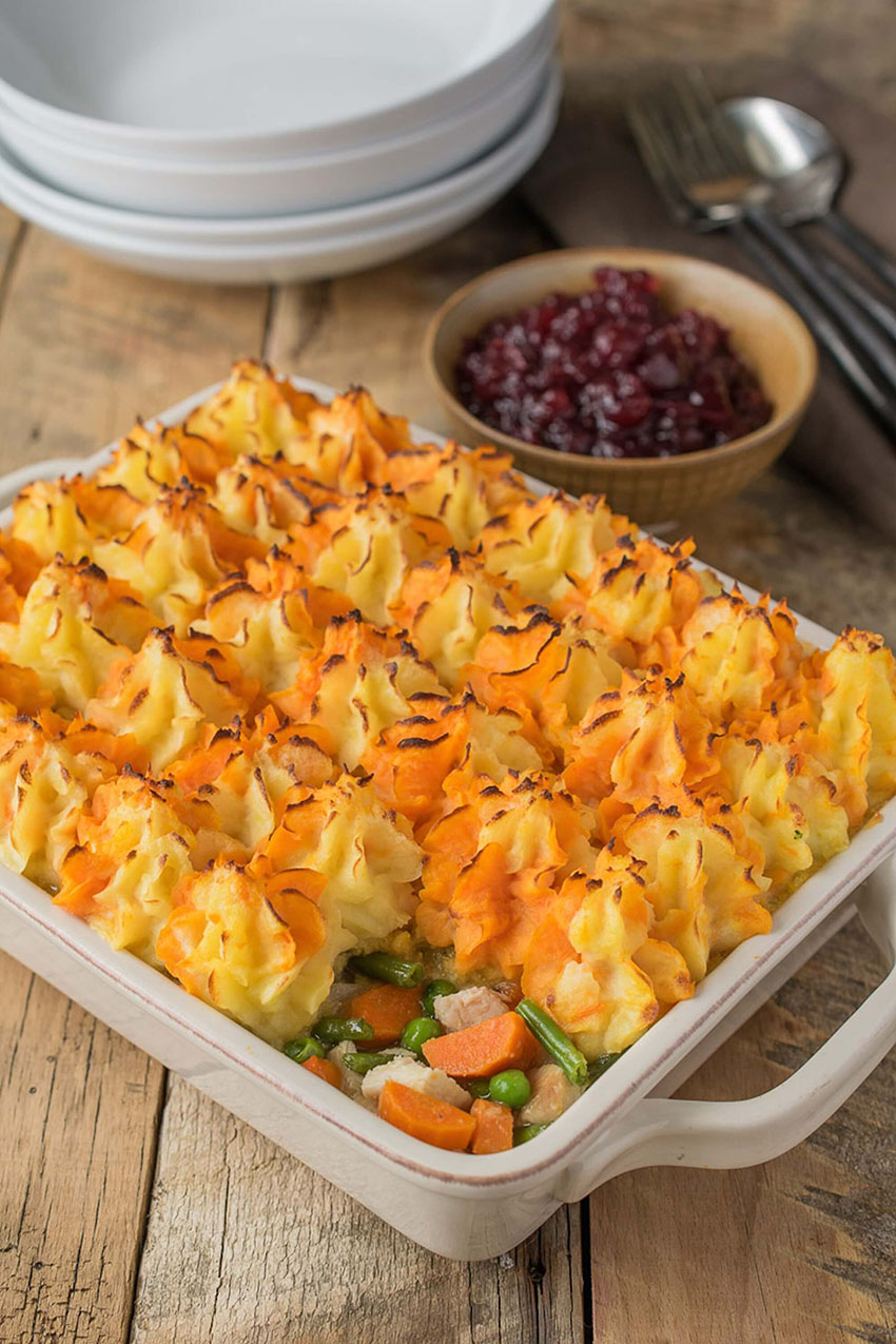 Thanksgiving Leftover Turkey Shepherd's Pie