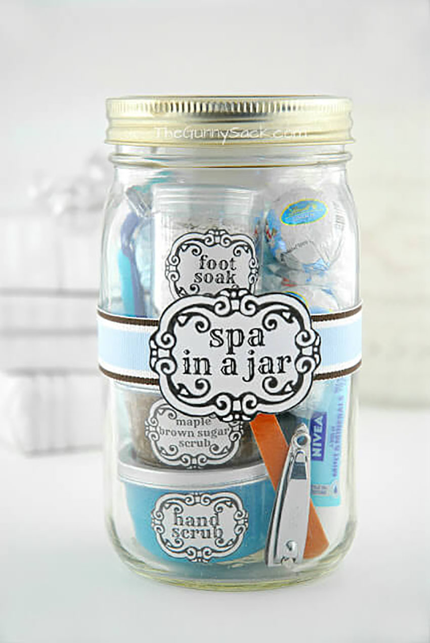 Spa in a Jar - Christmas Gifts Make Yourself