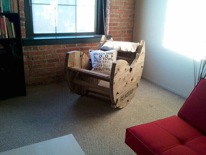 DIY custom seating arrangement for a home interior