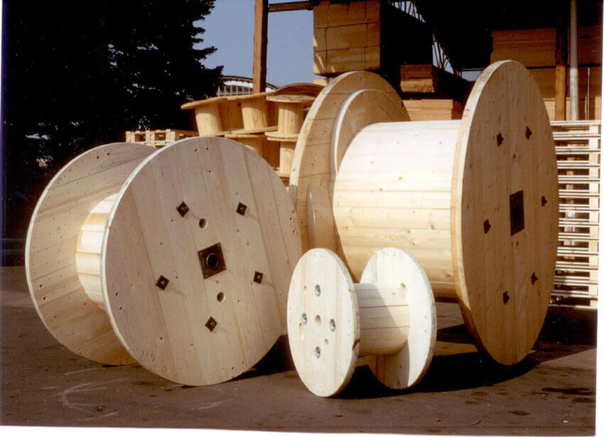Totally all wooden DIY spool examples