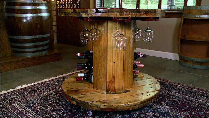 Wine rack for all the classy upcycling wine-o's