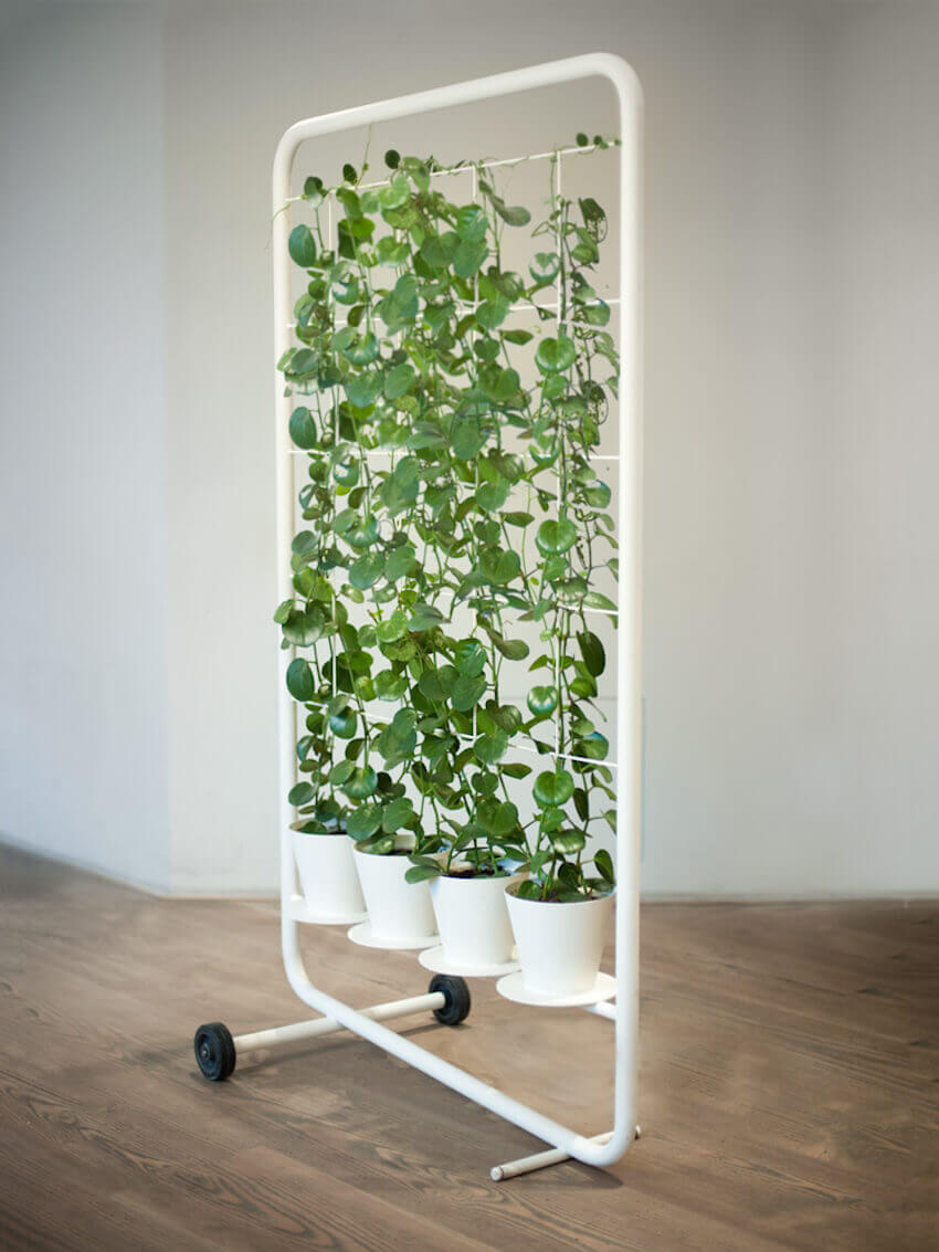 Rolling plant cart for a home interior
