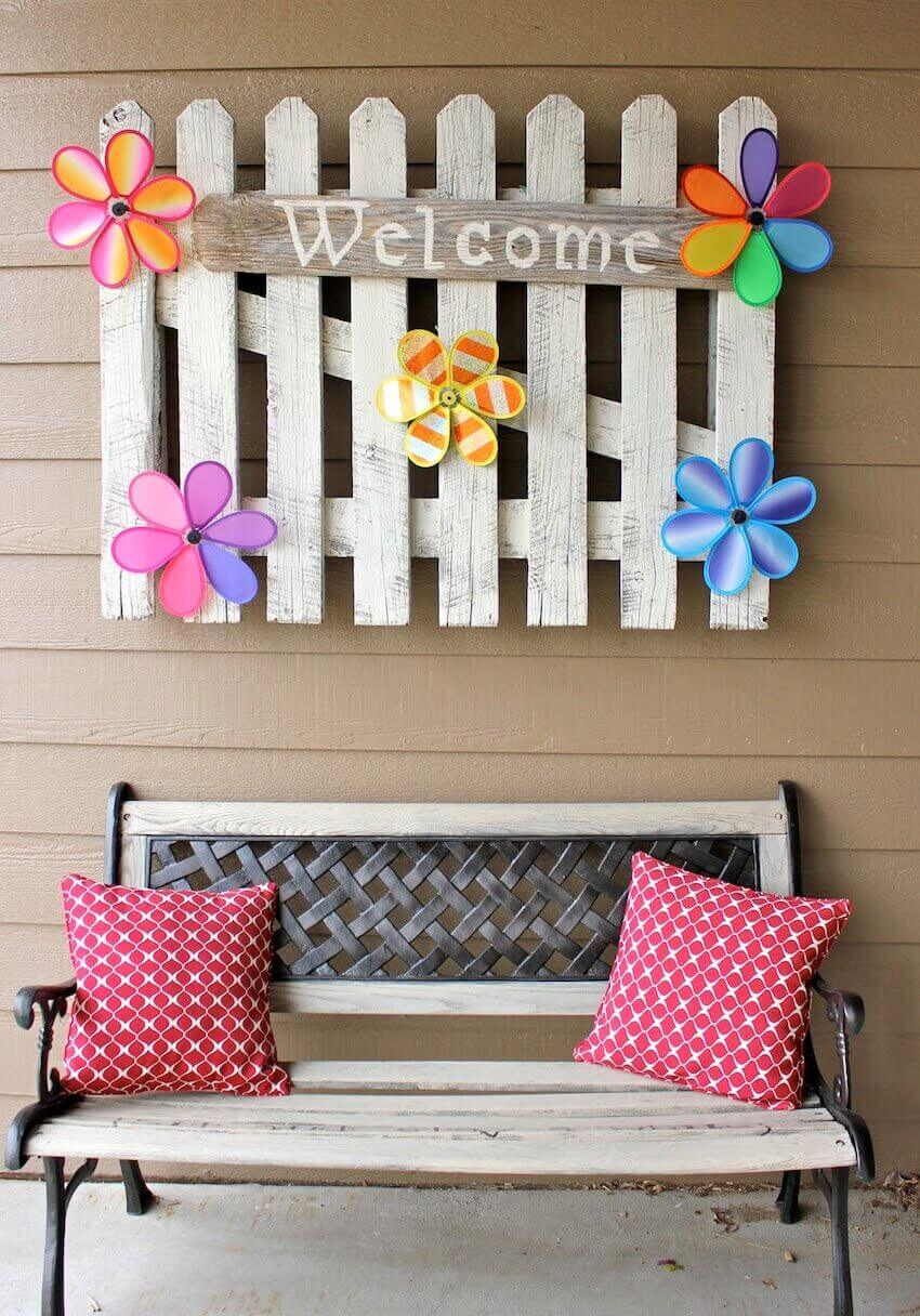 Welcome bench for your front home porch
