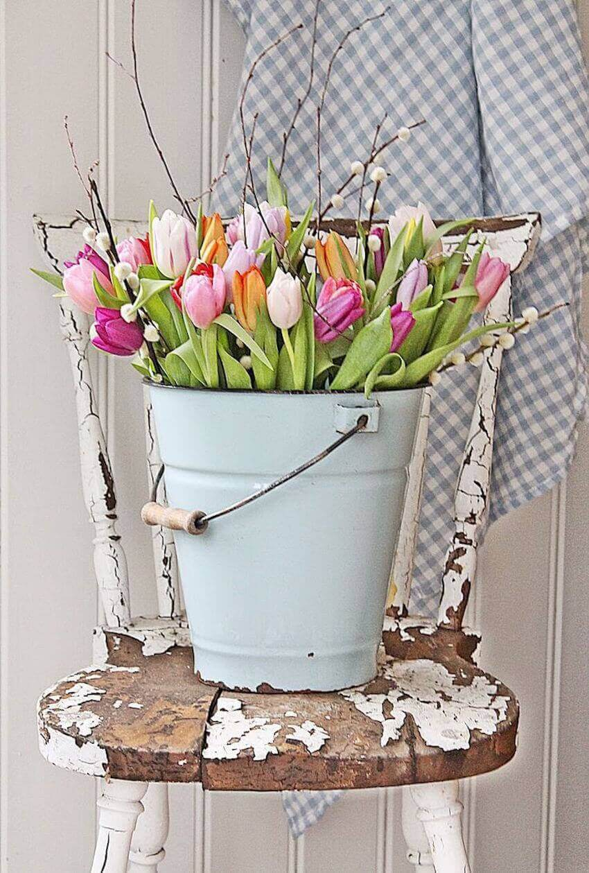 Rustic spring decor that you can do yourself