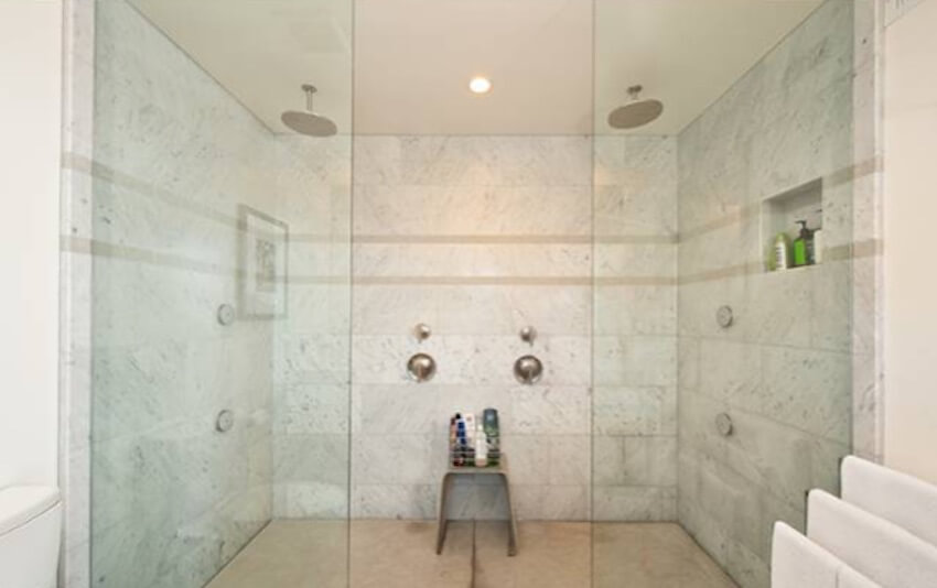 Room for two with this double shower model